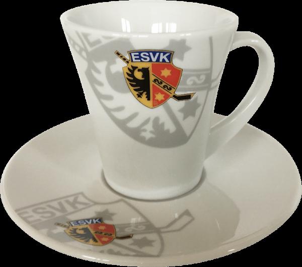 ESVK Cappuccino Tasse mit Unterteller
